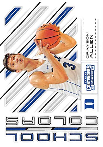 2018-19 Panini Contenders Draft Picks Basketball School Colors #29 Grayson Allen Duke Blue Devils Official NBA Trading Card RC Rookie