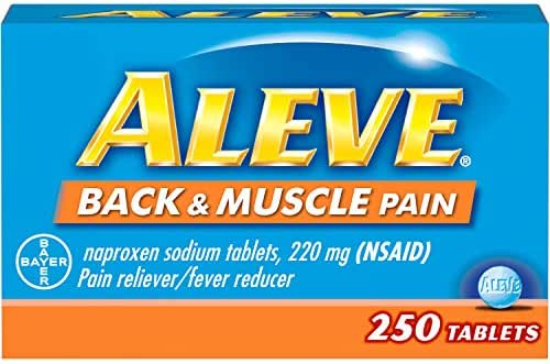 Aleve Back & Muscle Pain Tablet, Pain Reliever/Fever Reducer, 250 Count