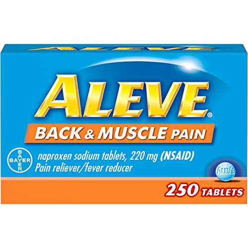 Aleve Aleve Back & Muscle Pain Tablet, Pain Reliever/Fever Reducer, 250 Count, 250 Count (Best Over The Counter Medicine For Back Muscle Pain)