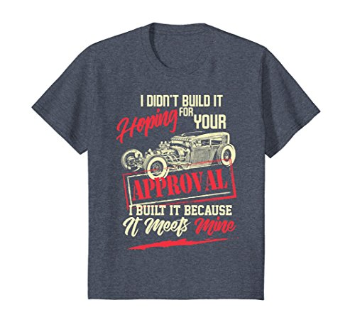 Kids Hot Rod Lovers T-Shirt For Men Or Woman Hot Rod Tee 12 Heather (Youth Hot Rod)