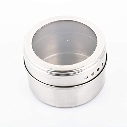 Clear Lid Magnetic Spice Jar Stainless Steel Spice Sauce Storage Container Jars