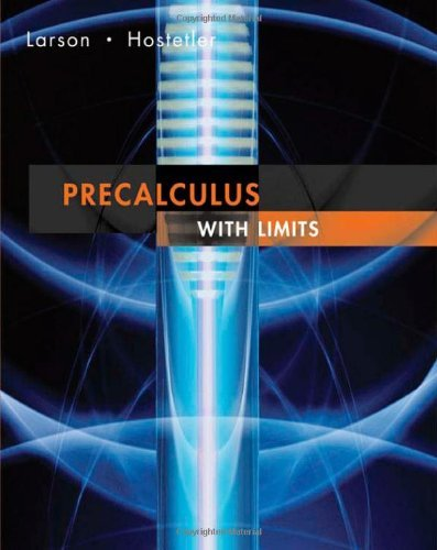 By Ron Larson Precalculus With Limits 1st First Edition