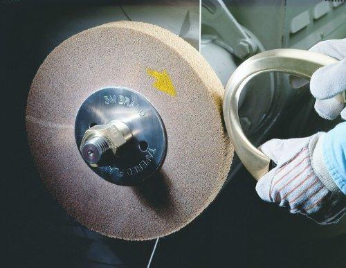 3M Scotch-Brite CP-FB Non-Woven Aluminum Oxide Flap Wheel - Medium Grade - 2 in Face Width - 8 in Dia 4 in Center Hole - 4000 Max RPM - Density Grade: Medium - 04112 [PRICE is per BRUSH]