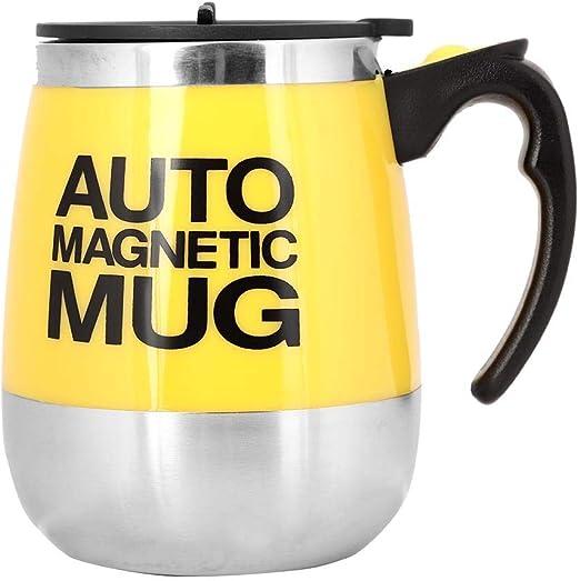 New Lazy Mug Yellow Tea Coffee Soup Design Lazy Cup Electrical Stirring Mug Self