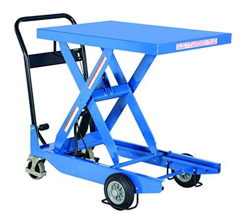 36 Hydraulic Scissor Lift Table - Vestil CART-1000-S-HR Steel Single Portable Scissor Cart, Hydraulic Hand Pump, 1000 lb. Capacity, 36