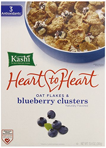 Kashi Heart to Heart Clusters Cereal, Oat Flakes and Blueberry, 13.4 Ounce (Pack of 10) (Fiber Cereal Cereal High Kashi)