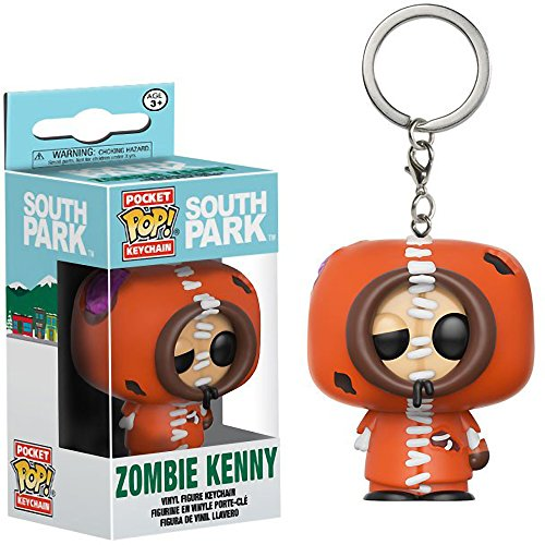 Funko Zombie Kenny Pocket POP! x South Park Mini-Figural Keychain + 1 Free American Cartoon Themed Trading Card Bundle (14204)