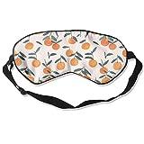 Sleep Mask Orange Pattern Eye Cover Blackout Eye Masks,Soothing Puffy Eyes,Dark Circles,Stress,Breathable Blindfold For Women Men