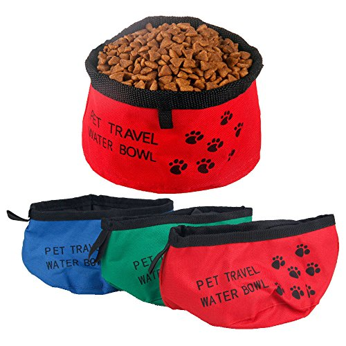 [Portable Pet Cat Dog Collapsible Fordable Camping Travel Bowl Water Food Feeder Tool] (Megaman Halloween Costume)