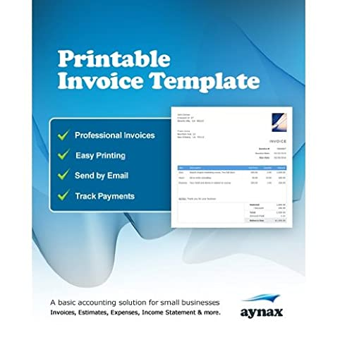 Amazoncom Professional Invoice Template Month Online - Aynax com free printable invoice for service business