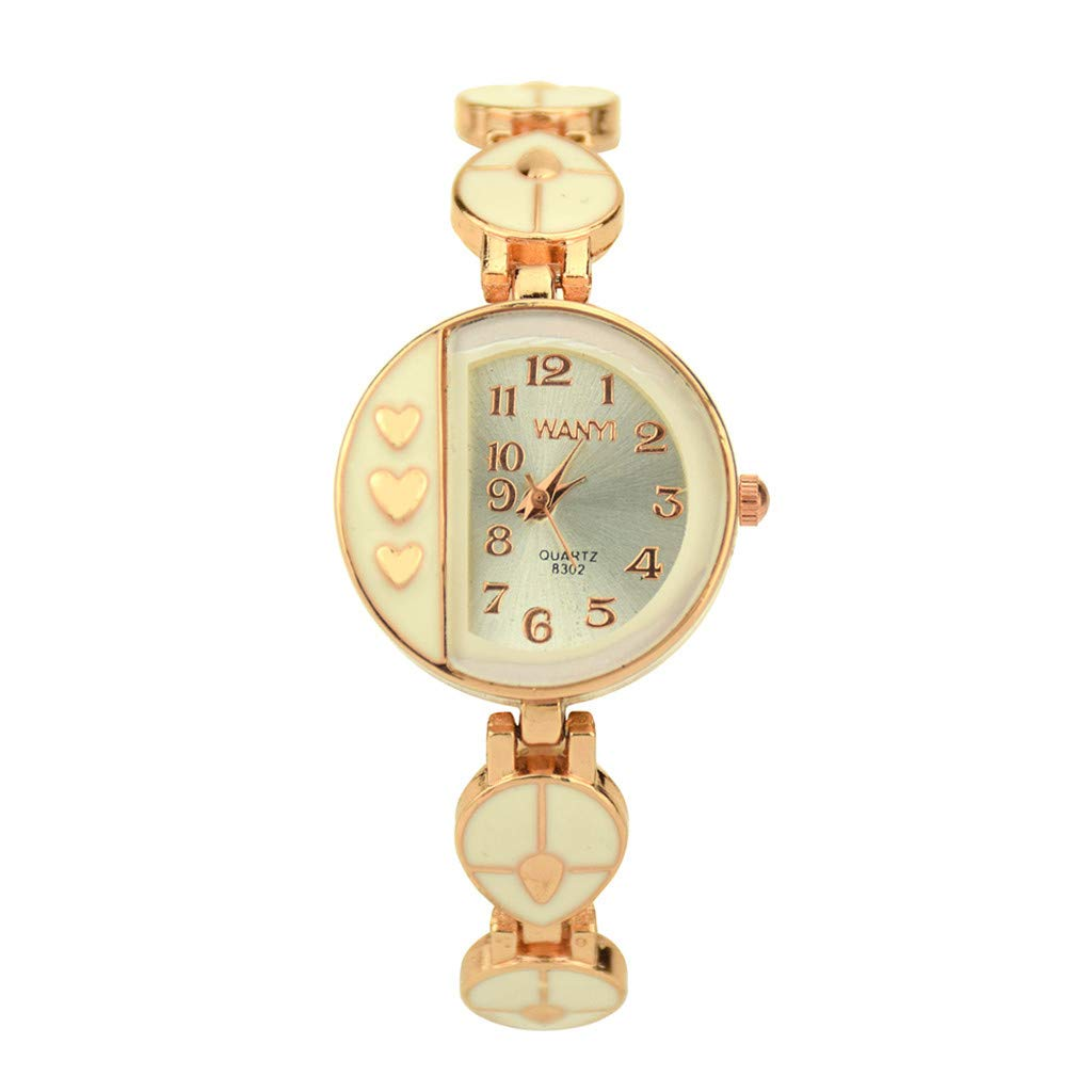 liuxuelifg3◆Women's Stylish Crystal Studded Bezel Watch with Square Dial, Fashion Luxury Heart Pattern Women Quartz Watches Bracelet Wrist Watch