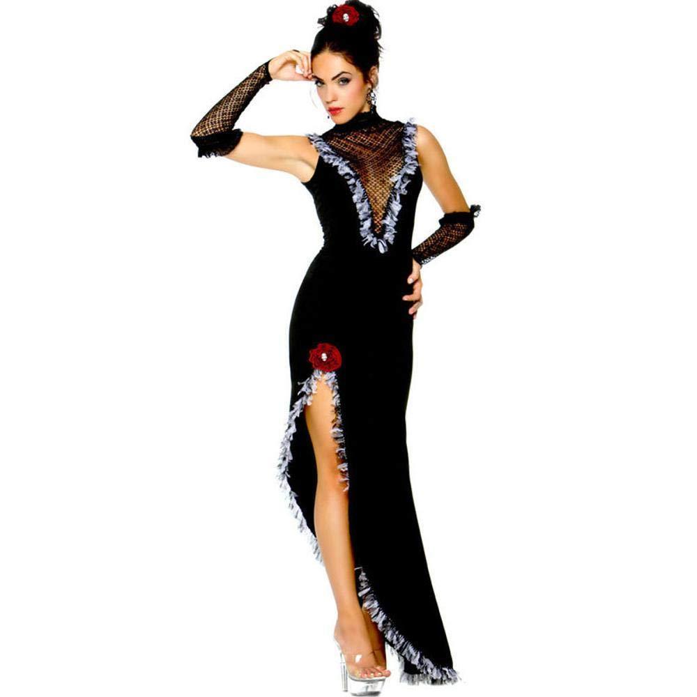 Yunfeng Hexenkostüm Damen Hexenkostüm Damen Halloween Kostüm Hexe Ghost Bride Vampir Kostüm Spiel einheitliche