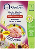 Gerber Cherries and Berries 5 Grain Cereal, Complete, Stage 4, 227g box (6 pack)