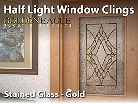 Amazoncom Reusable Semi Privacy Stained Glass Window Film Cling - Stained glass window stickers amazon