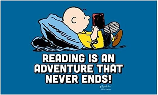 Amazon.com: CafePress Charlie Brown Reading is an Rectangle Bumper ...