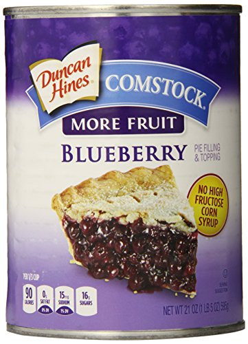 - Comstock More Fruit Pie Filling & Topping, Blueberry, 21 oz