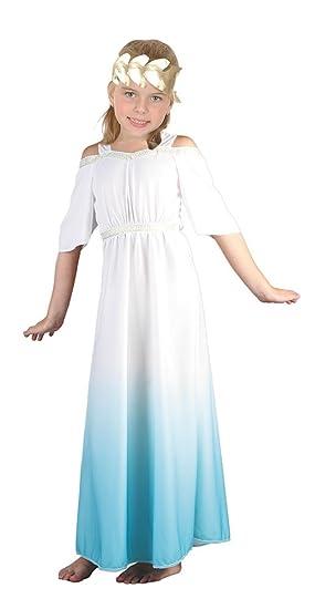 Bristol Novelty - Disfraz infantil de diosa romana, color turquesa
