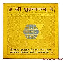 IndianStore4All Shri Shukra yantra Mantrit For Home Temple