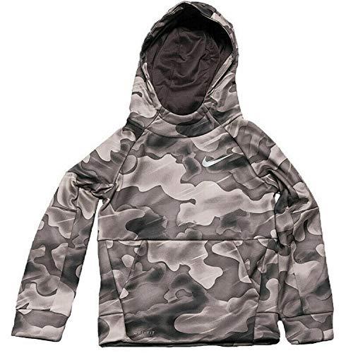 Nike Boys Dri Fit Therma Pullover Hoodie (6, Dark Gray) (Nike Boy Coat)