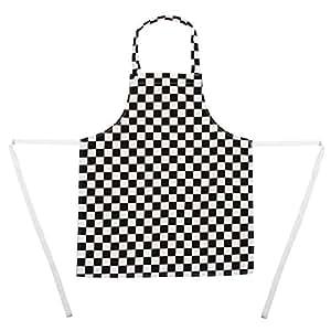 Delantal ajustable mamamemo - blanco y negro. Pequeño (5-7yrs) l delantales, ropa cocineros, Chefs delantales, dan niños amor cocina desde joven estos kwmobile polialgodón delantales. COCINA YOGAMATTERS!
