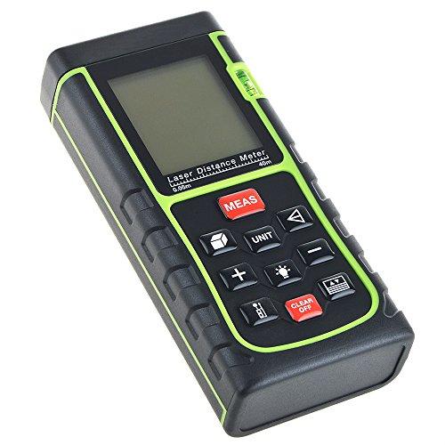 Flashmen 40m/131ft/1575in Digital Laser Distance Meter Range Finder Measure Distance Meters