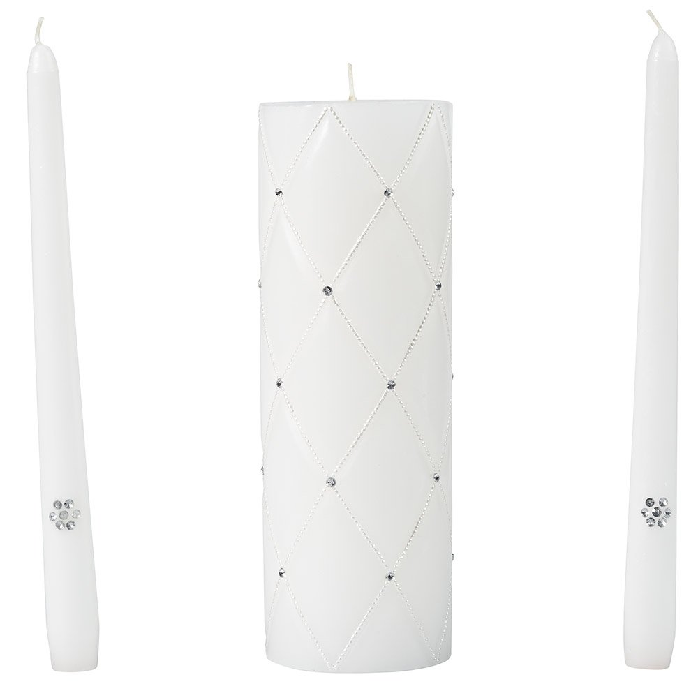 Wilton Graceful Wedding Day Collection Unity Candle and Taper Candles Set 120-065
