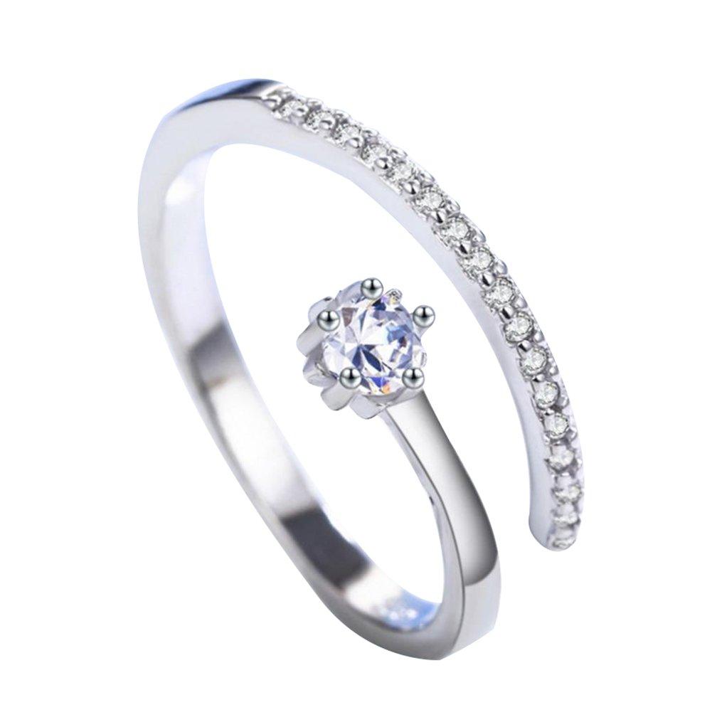 BIGBOBA semplice oro rosa creativo zircone intarsio di cristallo gioielli accessori per l'amante, coppia regalo, regalo di san valentino