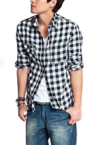 今メロドラマ光[ワイルドカクタス] シャツ チェック 柄 長袖 ワイシャツ メンズ トップス 上着 綿 カジュアル アメカジ