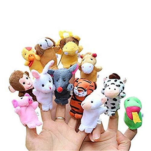 [해외]REGOU 12 Pcs Soft Animal Finger Puppets Baby Educational Hand Toy Finger Puppets Plush Toys for Kids Story Time Kids Gift Toys / REGOU 12 Pcs Soft Animal Finger Puppets Baby Educational Hand Toy Finger Puppets Plush Toys for Kids S...