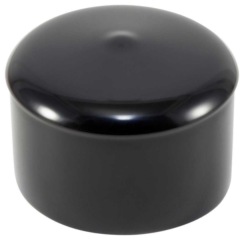 Caplugs 99190315 Plastic Cap with Flanges. VCF-937-8, VINYL, Cap ID 0.937'' Length 0.500'', Black (Pack of 500)