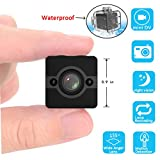Spy Mini Camera, VESKYS Security Camera, 1080P HD Sport Camcorder Night Vision/Motion Detection Wide Angle FOV155 Small Hidden Surveillance Camera 30meters Waterproof for Home/Office/Outdoor