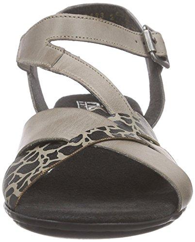 Rieker 68358 Women Open Toe - Sandalias Mujer Gris - Grau (elefant/elefant / 42)
