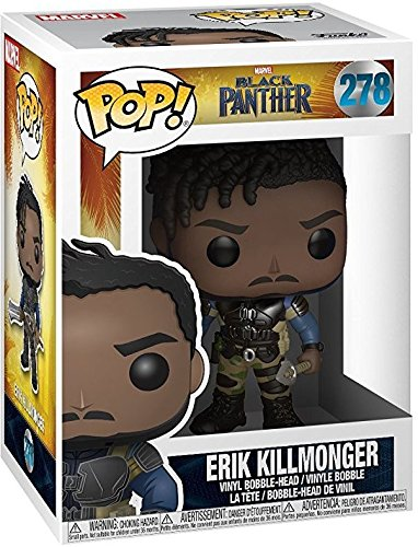 Bundled with Pop BOX PROTECTOR CASE Unmasked Erik Killmonger #278 Vinyl Figure Funko Pop Marvel: Black Panther