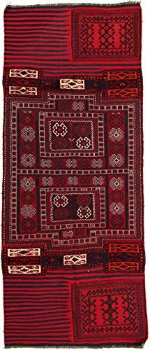 RugInRoll Turkish Hand-Knotted Camel Bag Pattern, Camel Bag Design, Wool on Wool, Antique, Handmade Area Rug, (3' 4