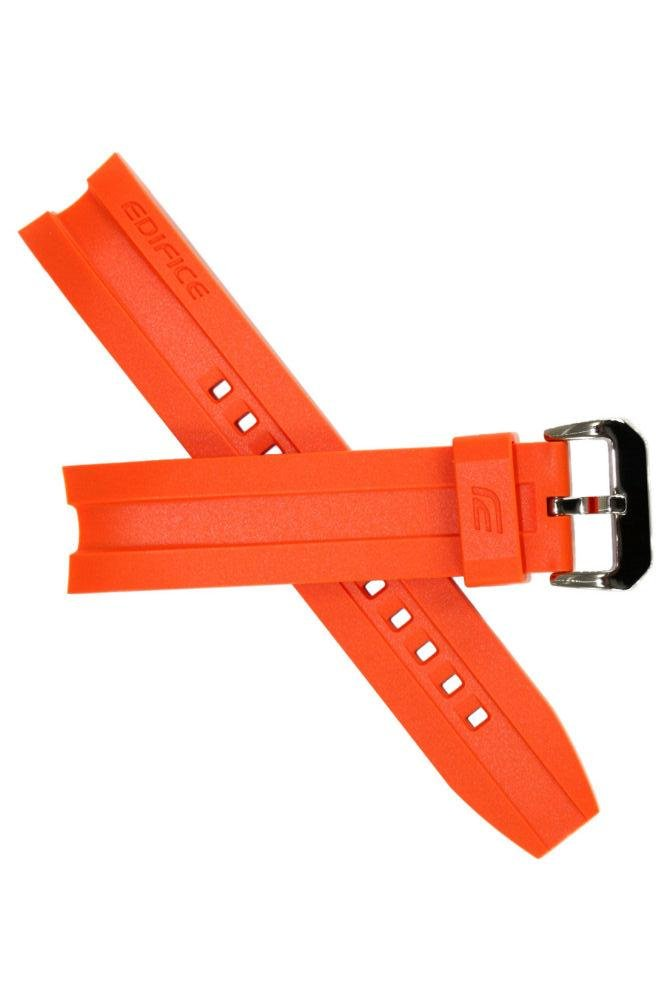 Casio 10449650 Genuine Factory Replacement Orange Resin Watch Band fits EMA-100B-1A4V