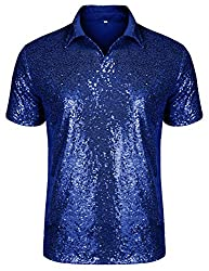 Men's Relaxed Sequins Short Sleeve Shirt