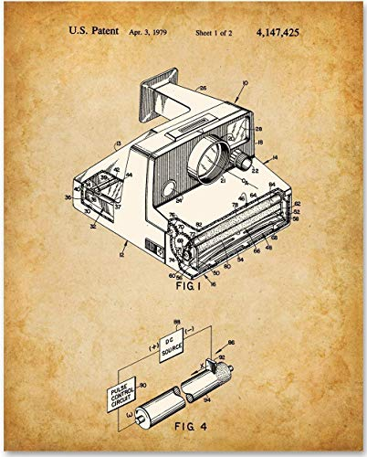 Polaroid Camera - 11x14 Unframed Patent Print - Makes a Great Gift Under $15 for Retro Home and Photographers