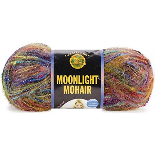 (Lion Brand Moonlight Mohair Yarn, Rainbow Falls)