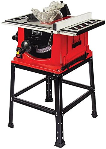 General International Ts4001 10 In 13a Motor Table Saw With Stand 857647005048