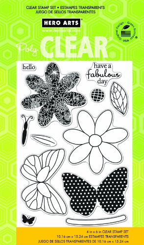 Frame Dot Giggles - Hero Arts Butterfly Clear Stamp Set