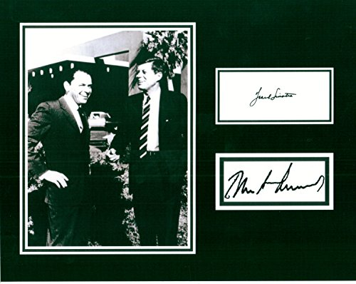 Frank Sinatra and JFK, 8 X 10 Photo Display Autograph on Glossy Photo Paper