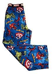 Boys Marvel Contest of Champions Hulk Spiderman Capt America Ironman Lounge Sleep Pajama Pants (L (10/12))