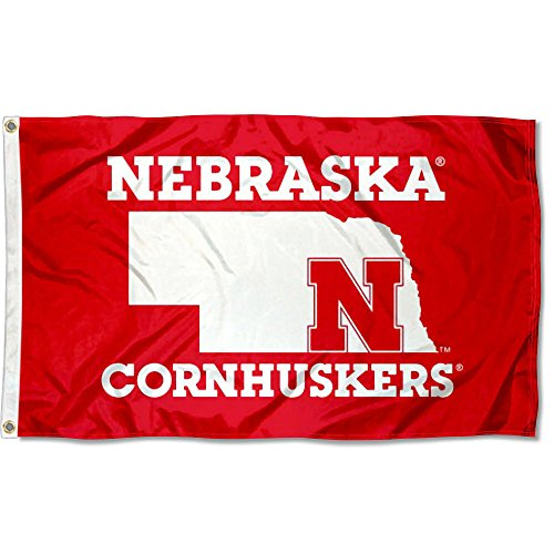 College Flags and Banners Co. Nebraska Cornhuskers State Marker Flag