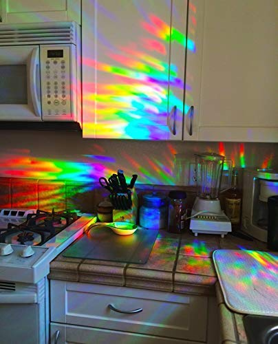 decorative window film holographic prismatic etched glass