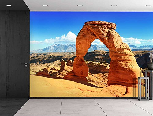 Large Wall Mural Beautiful Scenery Landscape Sunset at the Famous Delicate Arch Utah USA Vinyl Wallpaper Removable Decorating