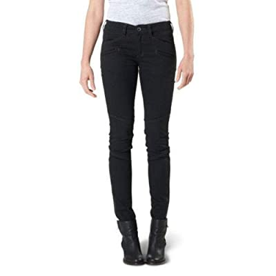5.11 Tactical Women's Microsand Finish Wyldcat Pants, Zippered Leg Gussets, Utility Pockets, Style 64019 at Women's Clothing store