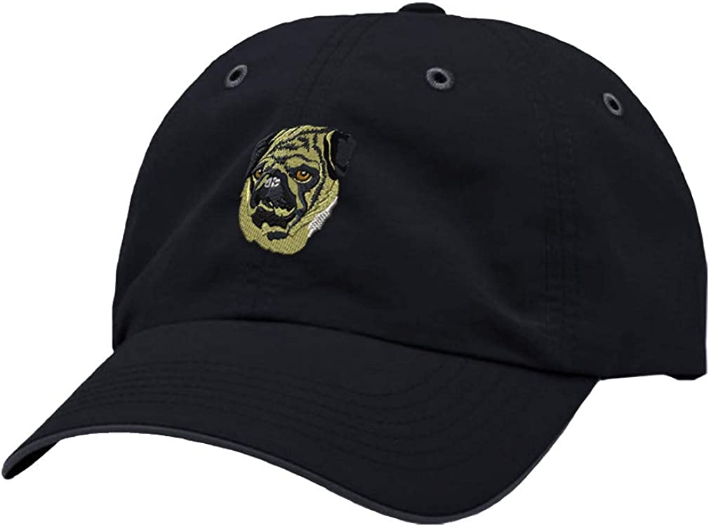 Custom Richardson Running Cap Pug Head Face Embroidery Dog Name Polyester Hat