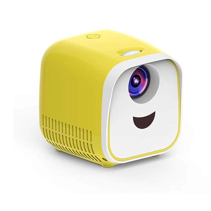 BOMAKER Mini Proyector para Niños Infantil Resolución 480*320 p Nativa, Contraste 1000 : 1, LED Poryector Pórtatil de Vídeo, Pantalla de 100
