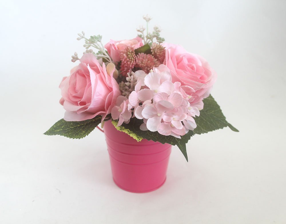 Spring table Centerpiece, Roses arrangement, Easter Decor, Spring flowers, silk flower arrangement, Mother's Day, summer flowers, Pink Rose arrangement, Home Decor, wedding flowers Mother' s Day