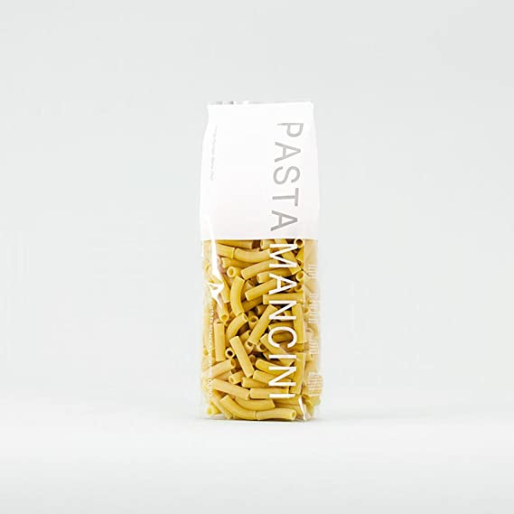 Pasta Mancini - Maccheroni gr 500 - Package In Envelope Transparent
